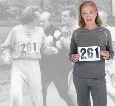 Celebratory Return for First Woman to Officially Run Boston Marathon