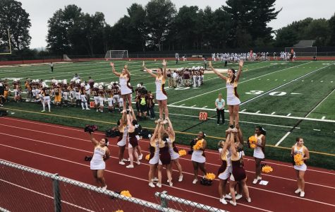 South Windsor Cheer Team at Home Opener