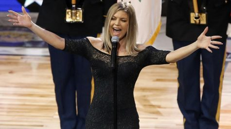 Fergie Performs National Anthem at NBA All Star Game