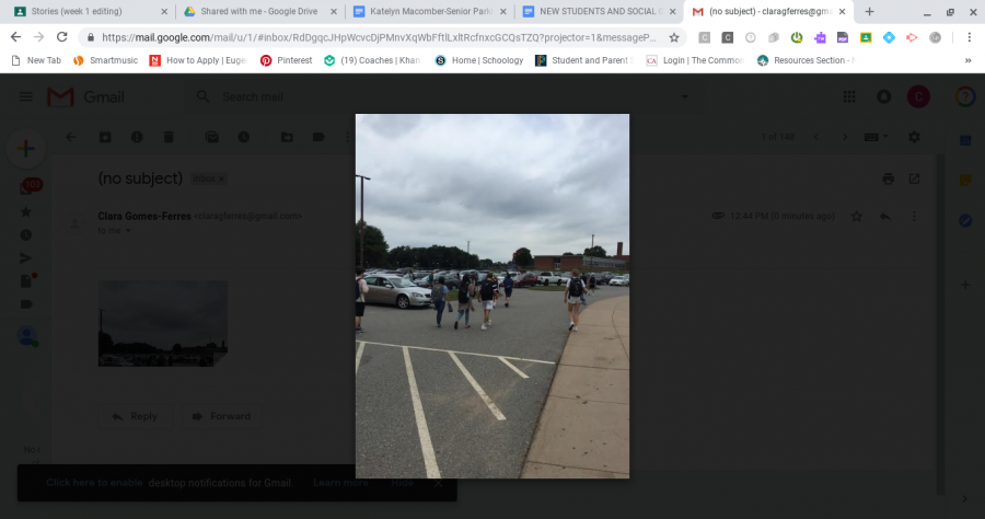 SWHS student drivers making their way into the lot after the last bell on Thursday October 4th, 2018.