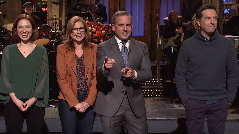 Steve Carell and other Office actors are viewed on SNL recently