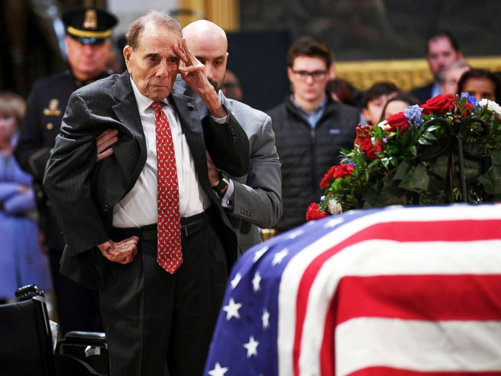 People honor former president George H.W. Bush