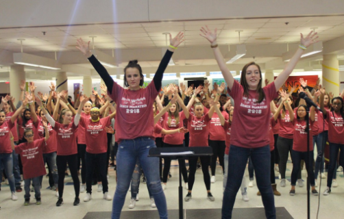 Students at the 2018 Dance Marathon