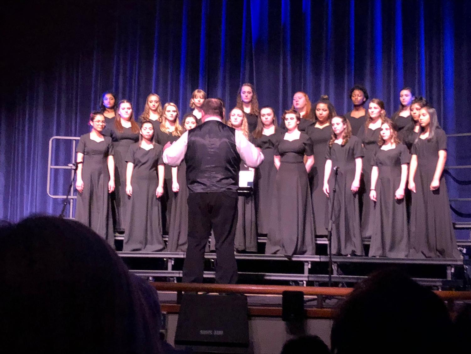 Treble Choir performs the opening act at Cabaret.