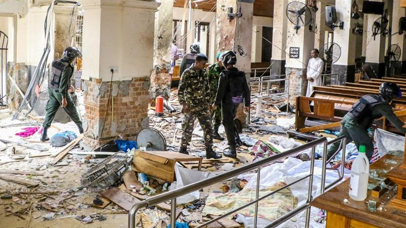 After the bombings in the church in Sri Lanka