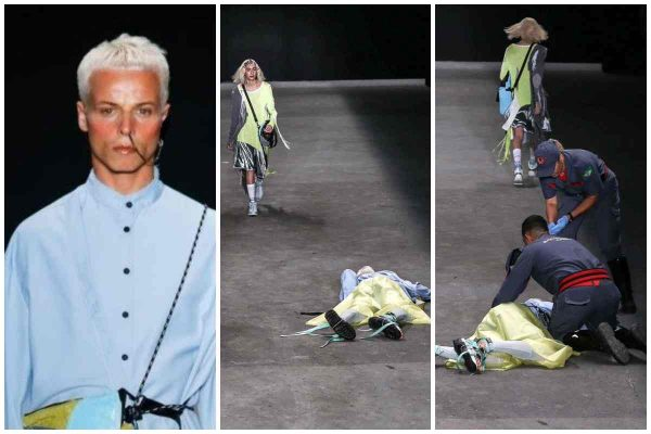 Tales Soares collapses during his walk on the runway and is pronounced dead soon after.