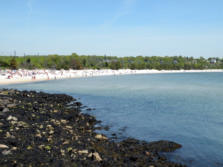 Since CT really isn't known for its beaches, Rocky Neck Beach is a nice spot to hangout at to walk along the boardwalk and enjoy the sea air.  https://www.tripadvisor.com/Attraction_Review-g33770-d543803-Reviews-Rocky_Neck_State_Park-East_Lyme_Mystic_Country_Connecticut.html