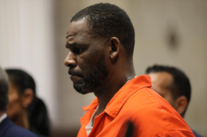 Singer R. Kelly is seen in a court hearing in Chicago, Illinois in September 2019. Source: Forbes