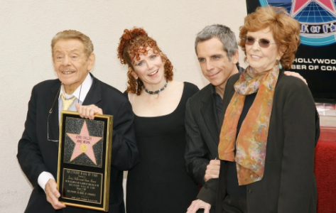 Jerry Stiller, Amy Stiller, Ben Stiller and Anne Meara (from left to right), back in 2007 Source: The New York Times