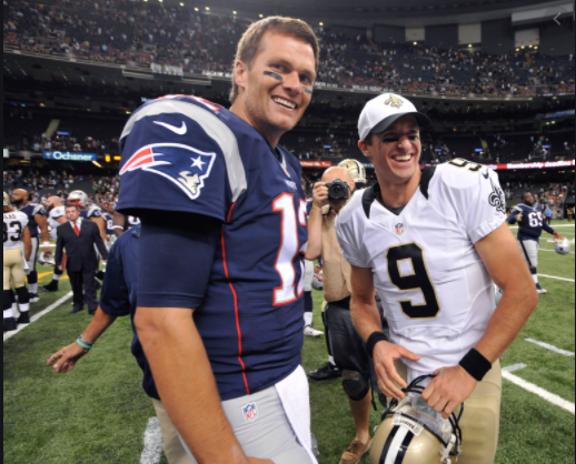 Tom Brady and Drew Brees play each other in one of the most memorable games of both athletes careers